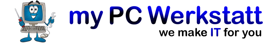 Banner mit Logo von my PC Werkstatt